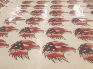 flag Del Oro High School Helmet Decals