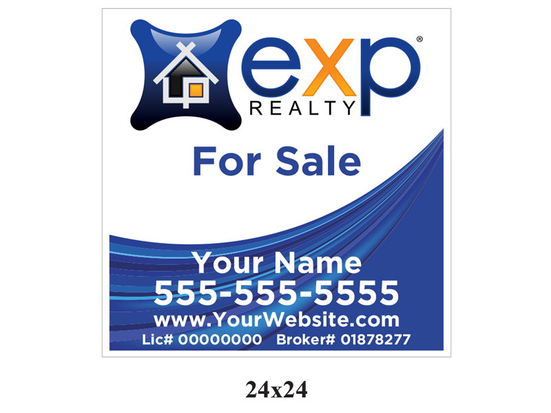 24 x 24 EXP_Realty For Sale Realty Sign