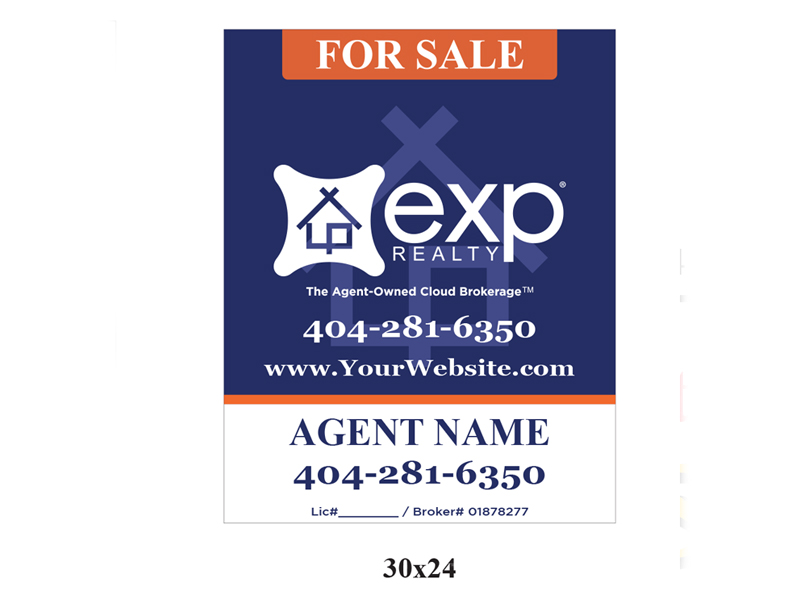 30 x 24 EXP_Realty For Sale Realty Sign