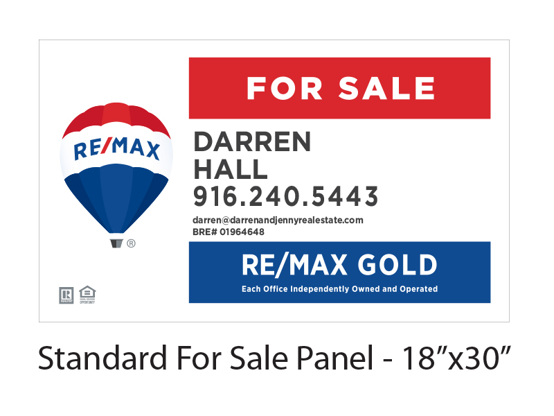 Re/Max Gold For Sale Panel 18 x 30