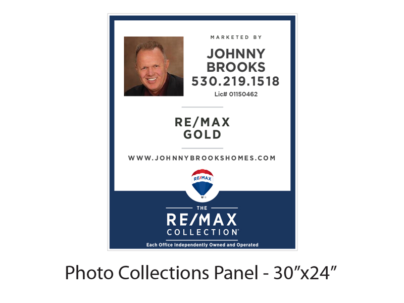 30 x 24 Buy Sign Re/Max Gold Collections Panel with Photo