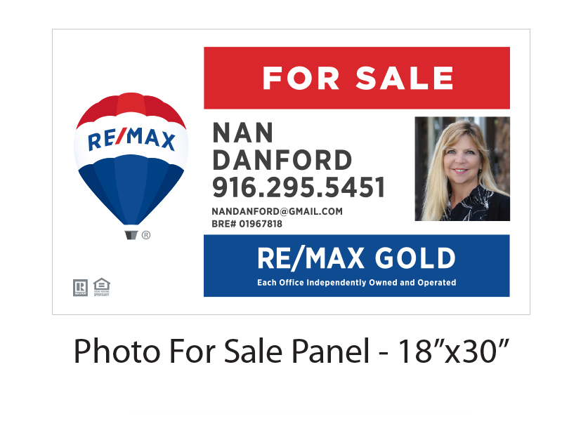 Buy Sign Re/Max Gold For Sale Panel with Photo
