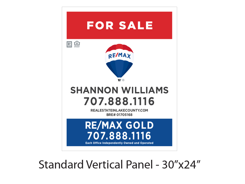 Buy Sign Re/Max Gold For Sale Panel 30 x 24