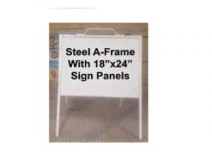 Steel Sign_Aframe